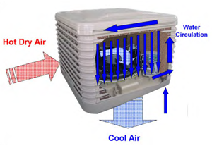 Evaporative Cooling – Green, with the same cooling benefits